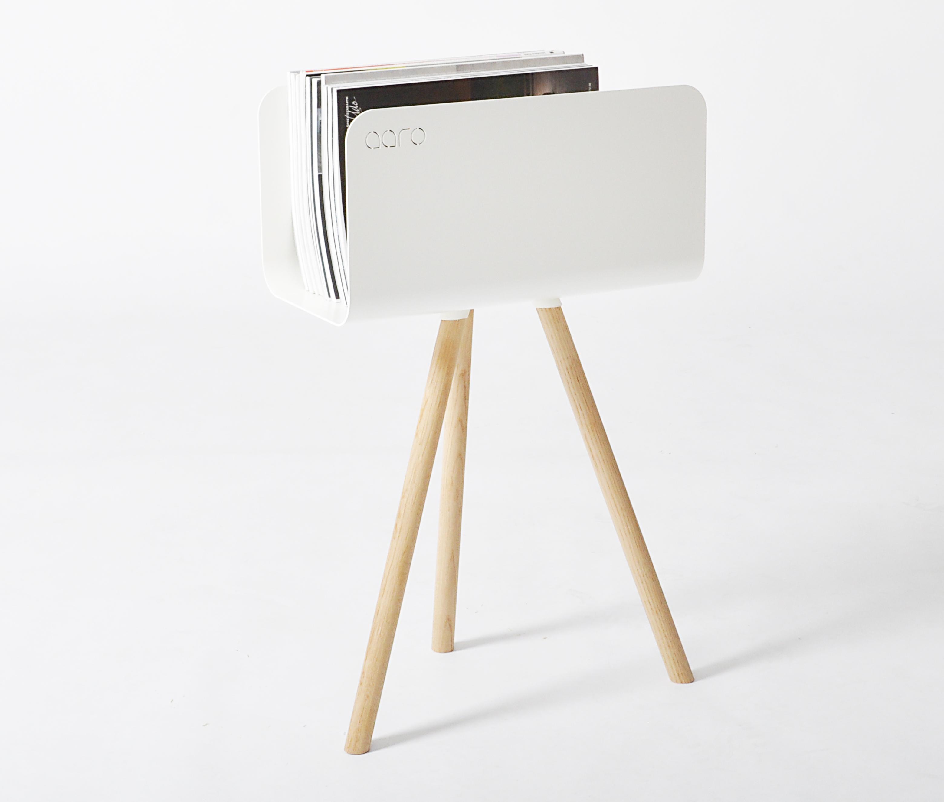 beh lter f r kaminholz tri mit bein weiss esche storage furniture tri with leg white. Black Bedroom Furniture Sets. Home Design Ideas